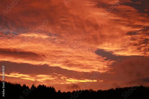 Foto op Canvas Baksteen Sonnenuntergang