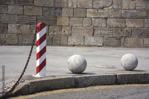 Bollard and balls 1