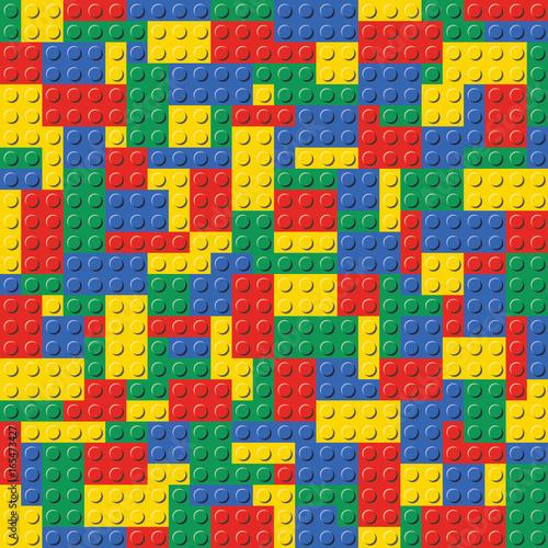 fototapeta na ścianę Colorful Lego Brick Seamless Background Pattern vector illustration