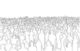 Fototapety Illustration of large mass of people in perspective