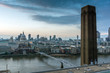 roleta: Amazing Sunset panorama from Tate modern Gallery to city of London, England, Great Britain