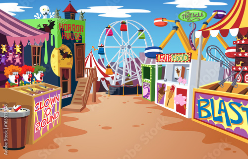 Canvas Amusementspark Fairground