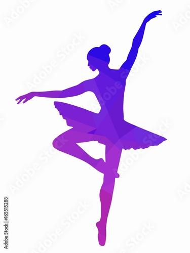 illustration of ballerina, vector draw