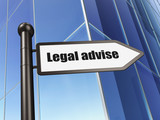 Law concept: sign Legal Advise on Building background - 165519482