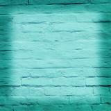 brick wall covered with blue lime
