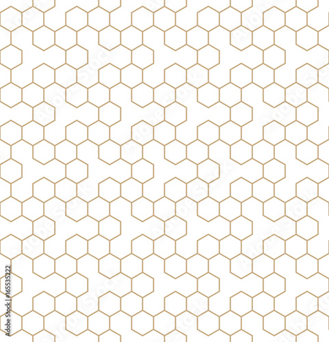 vector geometric hexagon seamless pattern background - 165535222