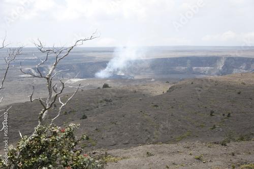 Tuinposter Grijs Vulkan