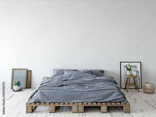 mock up wall interior. Wall art. 3d rendering, 3d illustration - 165550276