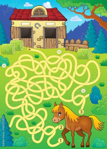 Maze 33 with horse theme