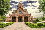 Facade of the Church with a three-nave domed Basilica of St. Gayane in Echmiadzin