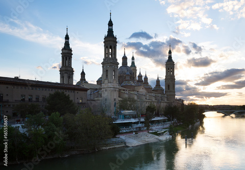 Cathedral of Our Lady of the Pillar and Ebro in Zaragoza