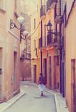 street of catalan town. Tarragona