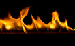 Quadro Strip of fire on a black background