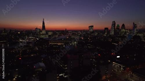 London at Dusk Aerial 4