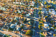 Quadro Aerial view of of a residential neighborhood in Hawthorne, in Los Angeles, CA