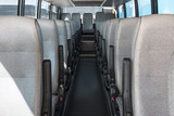 passenger compartment of a big shuttle bus - 165583094