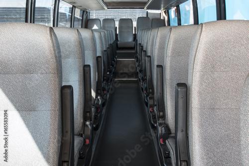 Foto Murales passenger compartment of a big shuttle bus