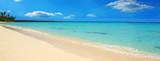 Caribbean sea and white sand beach.