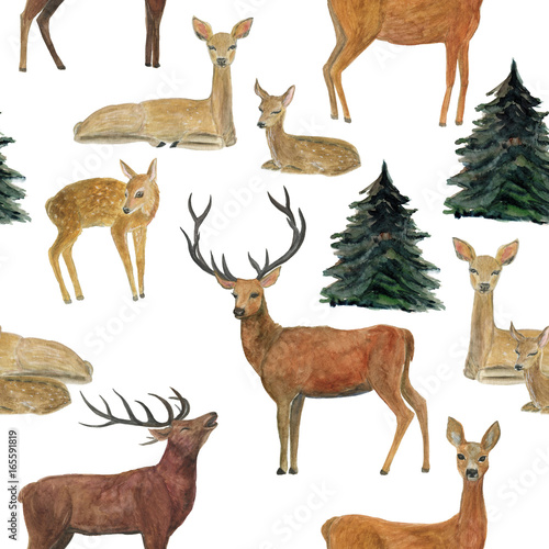 watercolor-painting-seamless-pattern-with-deers