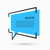 Quote speech bubble, blank template, text in brackets, citation empty frame, quote box - 165594674