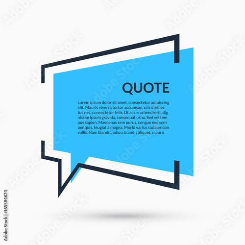 Quote Speech Bubble Blank Template Text In Brackets Citation