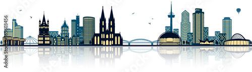 Köln Skyline - 165603456