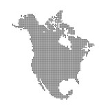 North America Vector Dotted Map
