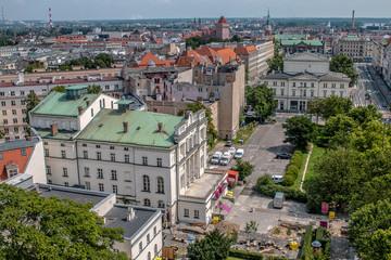Poznań z dachu okrąglaka
