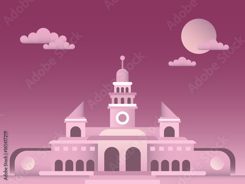 Palace vector illustration