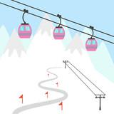 Ski resort icon. - 165624012
