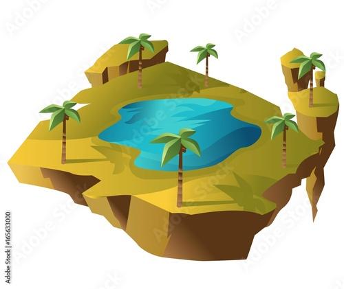 floating oasis desert island