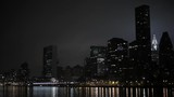 News York City Nighttime Shot of East River, Chrysler Building and FDR highway - 165633805