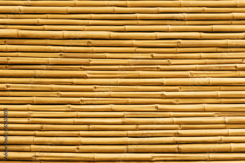 Aluminium Bamboe Yellow bamboo fence background and texture