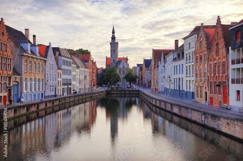 Foto op Canvas Brugge Water channel in Bruges