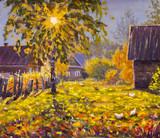 Original oil painting on canvas. Beautiful  landscape. Modern impressionism art. - Modern impressionism painting.