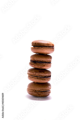 A column of macarons.
