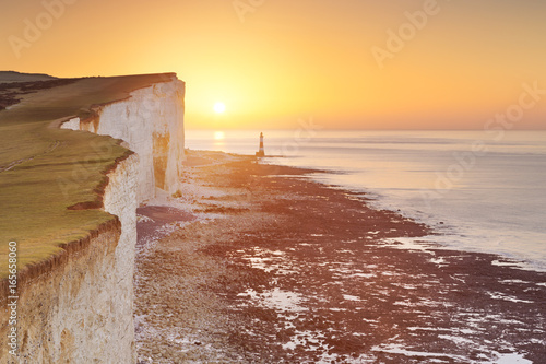 Sunrise over Beachy Head on the south coast of England