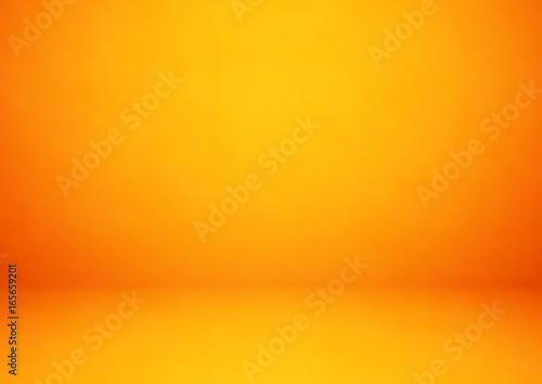 Pusty pomarańczowy pracowniany pokój, używać jako tło dla wystawia twój produkty - wektor