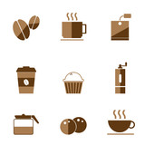 A cafe icon vector  design image