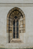 Old church window from outside