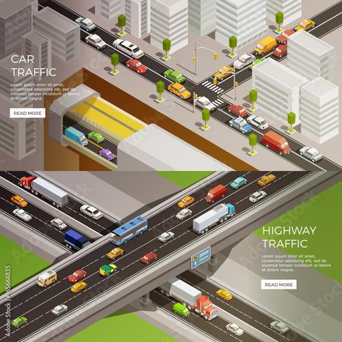 Urban Motorway Banners Set