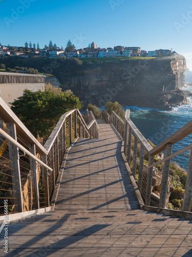 Tuinposter Sydney A stairway along Sydney eastern coastline.