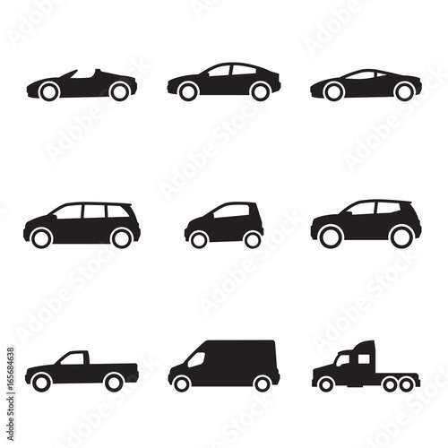 Cars icons set - 165684638