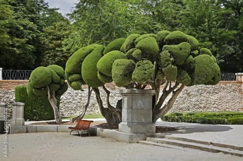 Foto op Canvas Madrid Buen Retiro park (Park of Pleasant Retreat) in Madrid. Spain