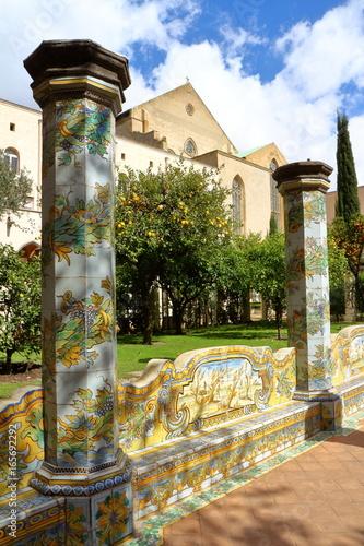 Santa Chiara cloister, Naples, Italy