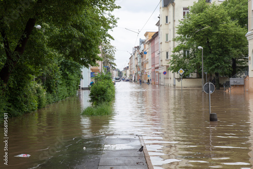 Flood in the city of Gera in June 2016