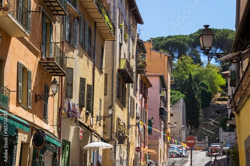 Narrow street in old part of Nice