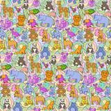 Animal Toys Seamless Pattern