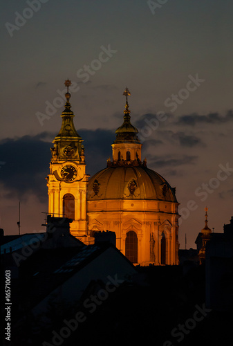Nicholas Church in city Prague