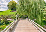 Bridge to Japanese Garden area in Chicago Botanic Garden, USA